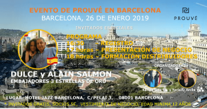 Prouvé - evento en Barcelona 25 de enero
