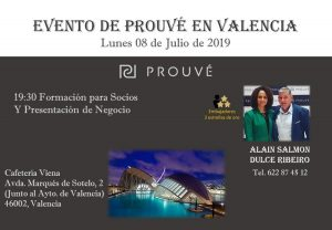 evento Prouvé 8 de julio en Valencia